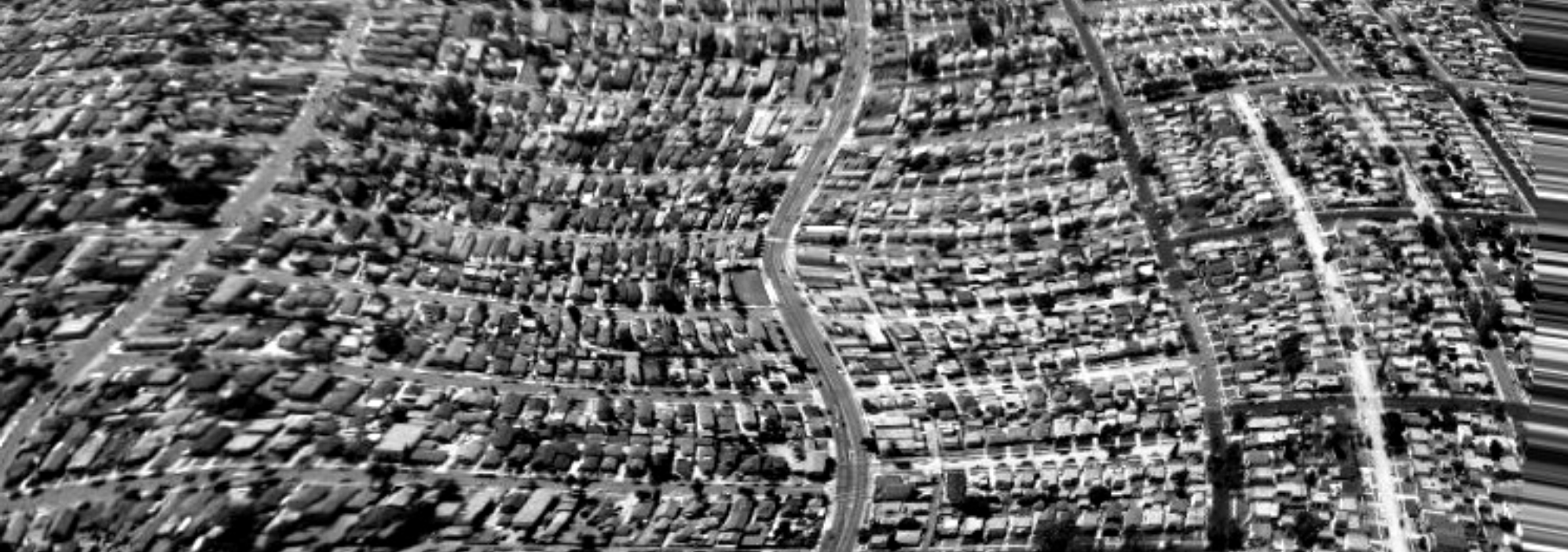 Overhead view of a neighborhood